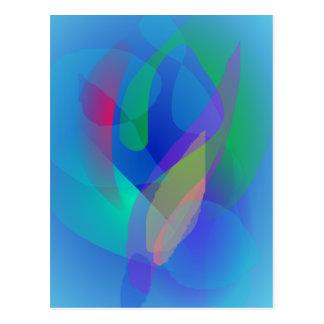 Colores abstractos azules claros postal