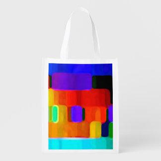 Colores abstractos bolsas para la compra