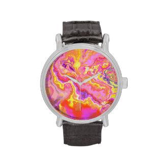 Colores abstractos brillantes reloj