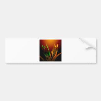 Colores abstractos de la flor del tulipán pegatina de parachoque
