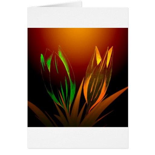 Colores abstractos de la flor del tulipán tarjeton