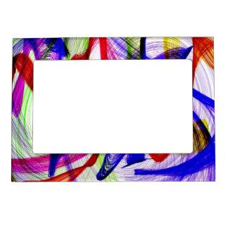Colores abstractos de Swirly Marcos Magneticos Para Fotos