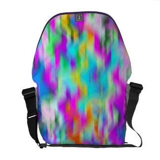 Colores abstractos del arco iris bolsa messenger