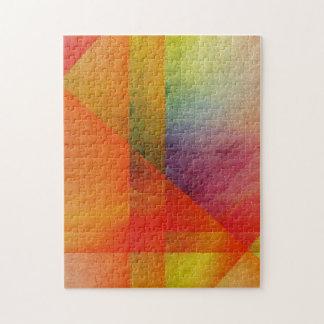 Colores abstractos del arco iris del arte de la ac puzzle