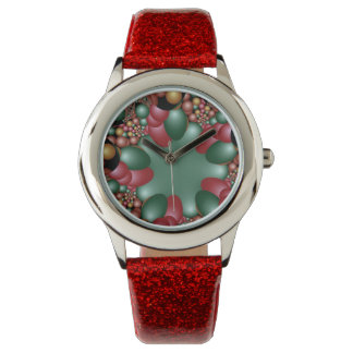 Colores abstractos del navidad relojes
