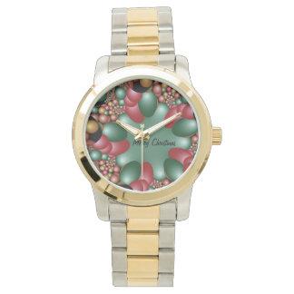 Colores abstractos del navidad relojes de pulsera