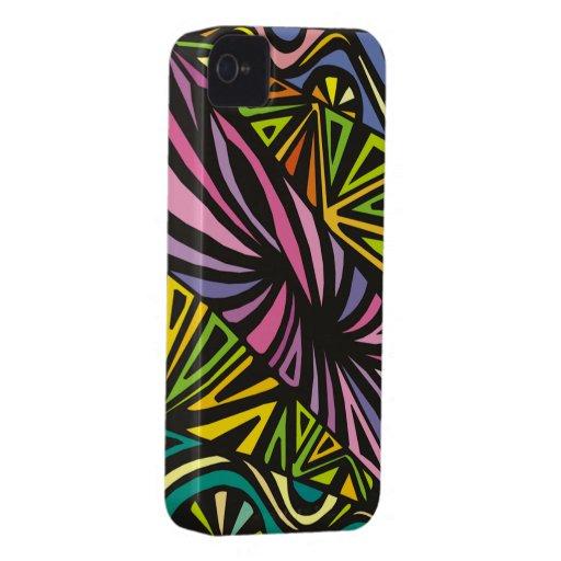 Colores abstractos iPhone 4 Case-Mate cárcasas