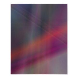 Colores abstractos oscuros folleto 11,4 x 14,2 cm
