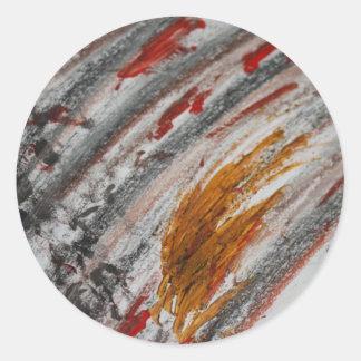Colores abstractos pegatina redonda