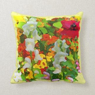 Colores alegres del jardín cojín