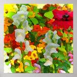 Colores alegres del jardín impresiones