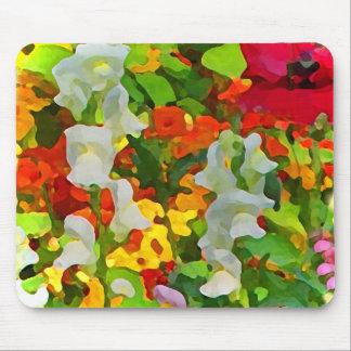 Colores alegres del jardín mousepad
