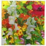 Colores alegres del jardín servilleta imprimida
