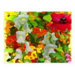 Colores alegres del jardín tarjeta postal
