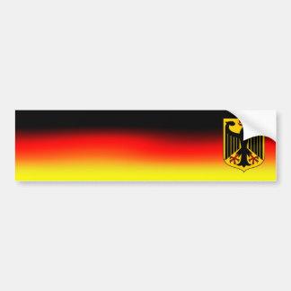 Colores alemanes de la bandera de la pegatina para etiqueta de parachoque