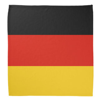 Colores alemanes del pañuelo el | de la bandera de bandanas