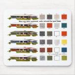 Colores aprobados de la casa del vintage de los su alfombrillas de raton