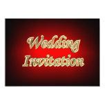 Colores asiáticos populares del oro rojo que casan invitación 12,7 x 17,8 cm