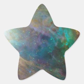 Colores asombrosos en pegatina de la estrella de