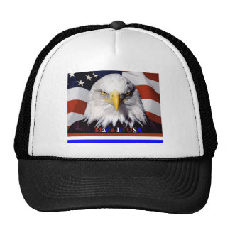 Colores azules blancos rojos calvos de Eagle Grand Gorra