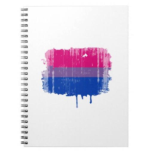 Colores bisexuales del orgullo apenados note book