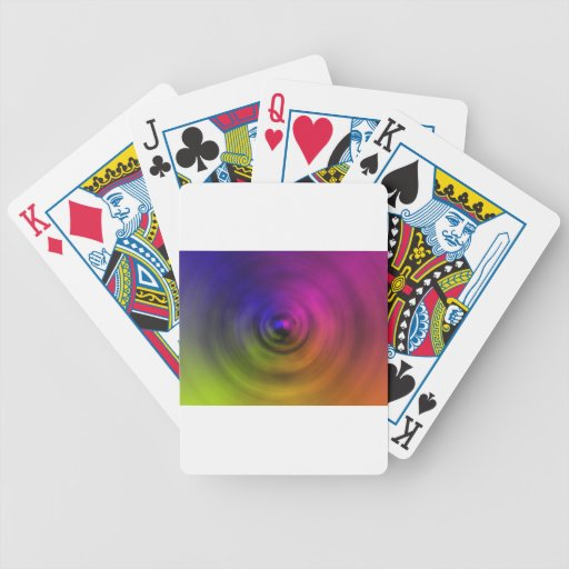 Colores brillantes de la falta de definición espir baraja cartas de poker