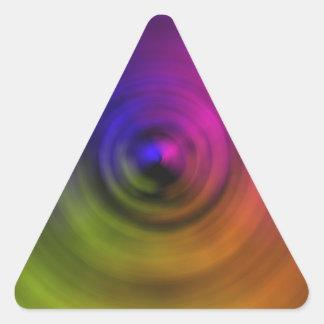 Colores brillantes de la falta de definición espir pegatinas de trianguladas