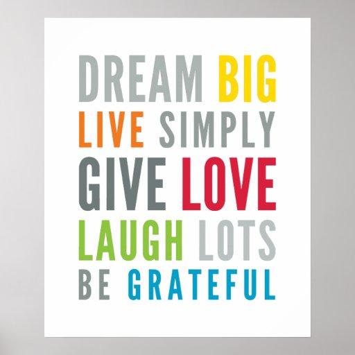 Colores brillantes de la tipografía fresca positiv poster
