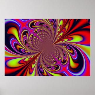 """""""Colores brillantes de la vena de la aguja de los  Póster"""