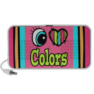 Colores brillantes del amor del corazón I del ojo Laptop Altavoces