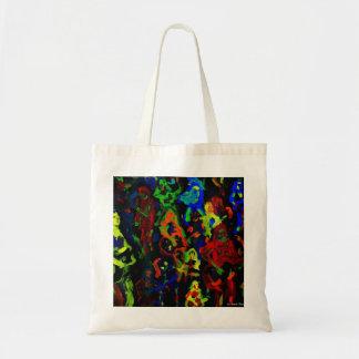 Colores brillantes del collage abstracto del músic bolsa tela barata