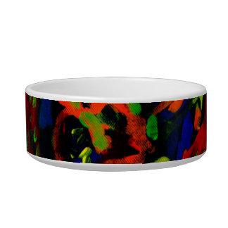 Colores brillantes del collage abstracto del músic comedero para mascota