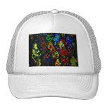 Colores brillantes del collage abstracto del músic gorras