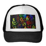 Colores brillantes del collage abstracto del músic gorros bordados