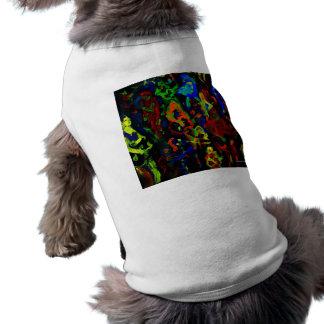 Colores brillantes del collage abstracto del músic playera sin mangas para perro