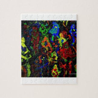 Colores brillantes del collage abstracto del músic puzzles