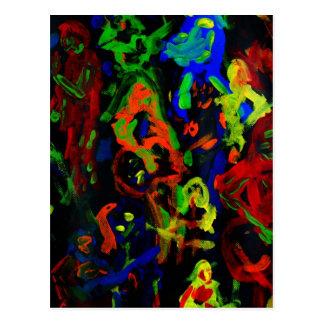 Colores brillantes del collage abstracto del tarjetas postales