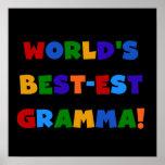 Colores brillantes del Mejor-est Gramma del mundo Poster