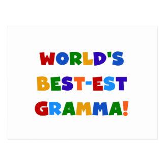 Colores brillantes del Mejor-est Gramma del mundo Postales