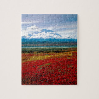 Colores brillantes del parque de Denali Alaska Rompecabezas