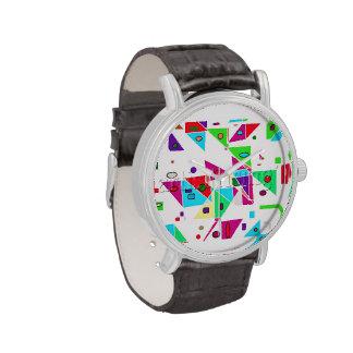 ¡Colores brillantes! ¡Formas geométricas! Relojes De Pulsera