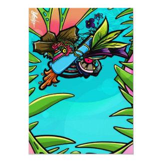 """colores brillantes para dibujar la buena tarjeta invitación 5"""" x 7"""""""
