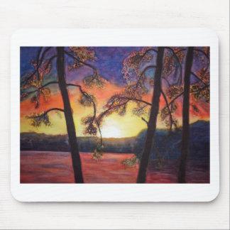Colores brillantes pintados bella arte K Lindsey d Tapetes De Ratones