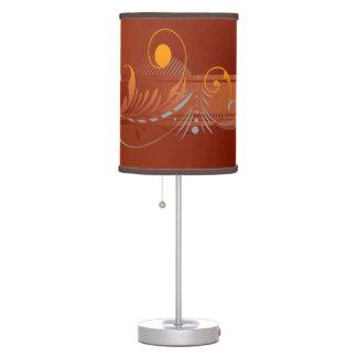 Colores calientes de la caída lámpara de mesilla de noche