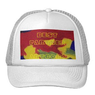 Colores calientes del mejor socio que pintan el ca gorras de camionero
