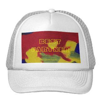 Colores calientes del mejor socio que pintan el ca gorras