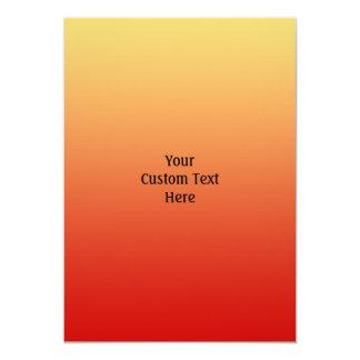 """Colores calientes, diseño del llano invitación 5"""" x 7"""""""