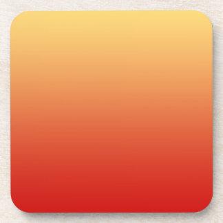 Colores calientes, diseño del llano posavasos