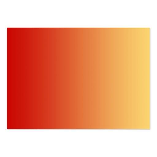 Colores calientes, diseño del llano plantilla de tarjeta personal