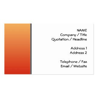 Colores calientes, diseño del llano tarjetas de visita